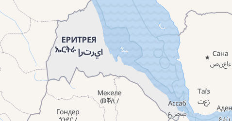 Ерітрея - мапа