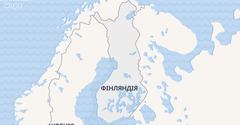 Фінляндія - мапа