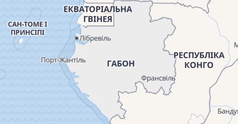 Ґабон - мапа
