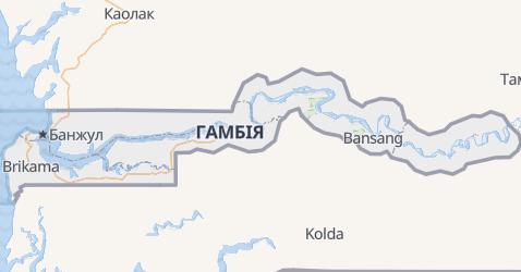 Ґамбія - мапа
