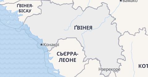 Ґвінея - мапа