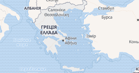 Греція - мапа