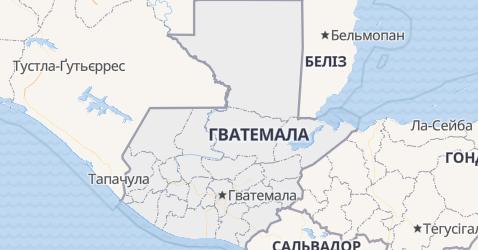 Гватемала - мапа