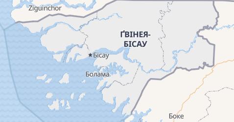 Ґвіея Біссау - мапа