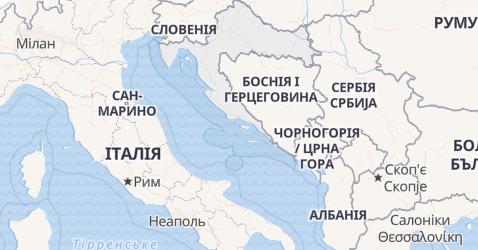 Хорватія - мапа