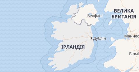 Ірландія - мапа