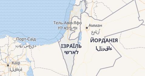Ізраїль - мапа