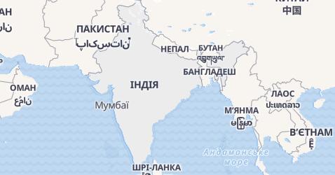 Індія - мапа