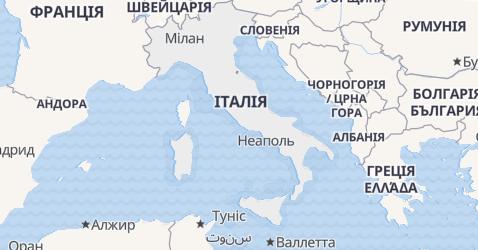 Італія - мапа