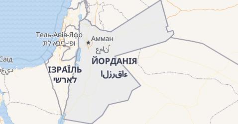 Йорданія - мапа