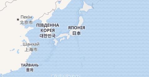 Японія - мапа