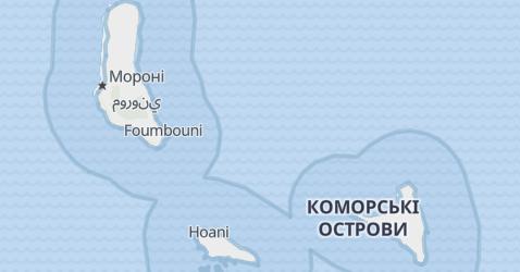Коморські острови - мапа