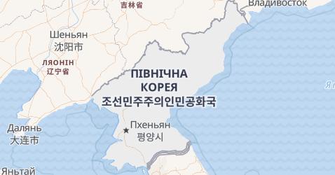 Північна Корея - мапа