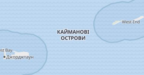Каймани - мапа