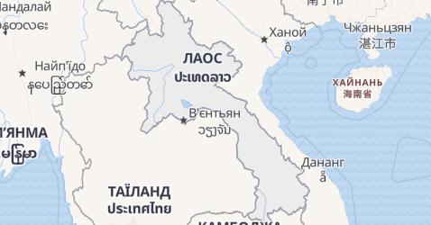 Лаос - мапа