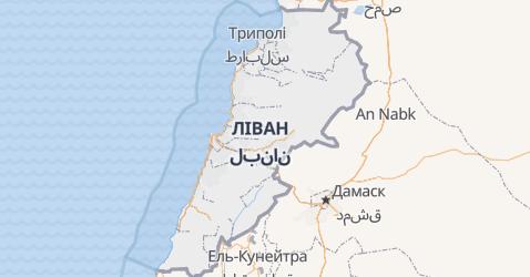 Ліван - мапа