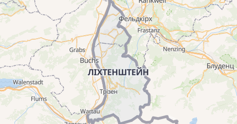 Ліхтенштейн - мапа