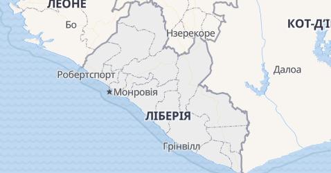 Ліберія - мапа