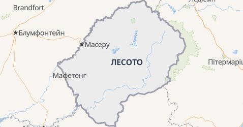 Лєсото - мапа