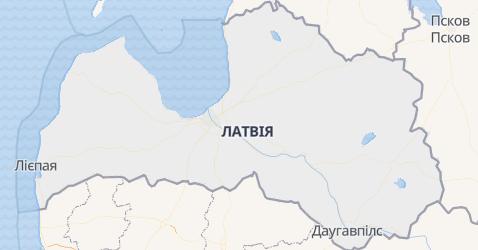 Латвія - мапа