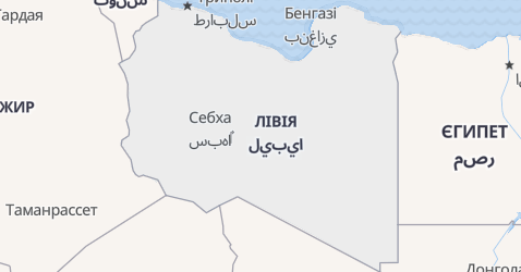 Лівія - мапа