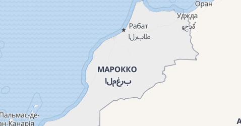 Марокко - мапа
