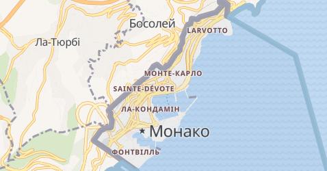 Монако - мапа