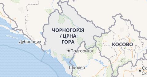 Чорногорія - мапа