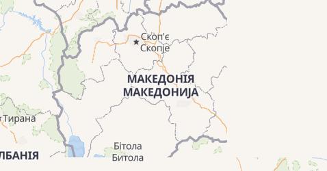 Македонія - мапа