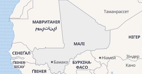 Малі - мапа