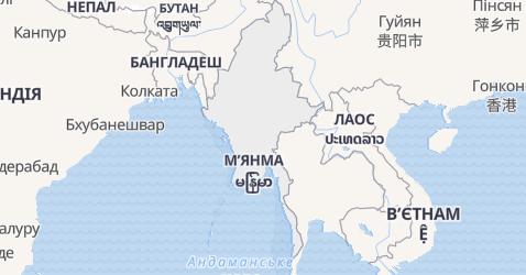 М'янма - мапа