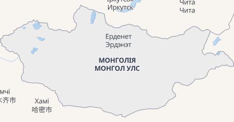 Монголія - мапа