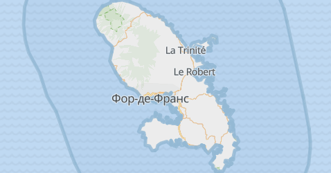 Мартініка - мапа