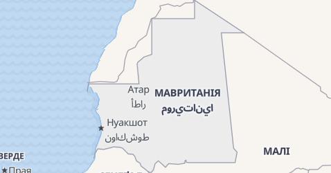 Маврітанія - мапа