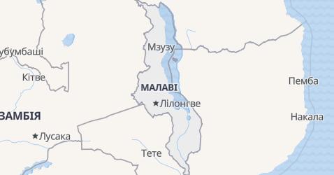 Малаві - мапа