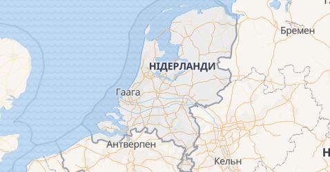 Нідерланди - мапа