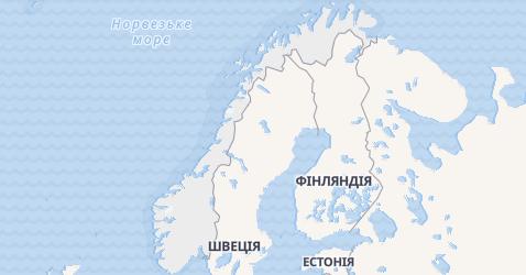 Норвегія - мапа