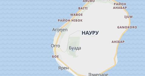 Науру - мапа