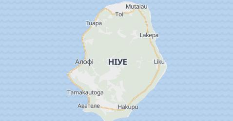 острів Ніуе - мапа