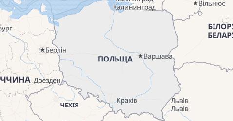 Польща - мапа