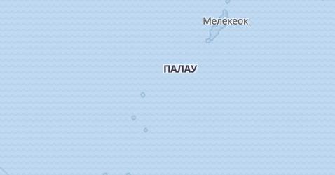 острови Палау - мапа