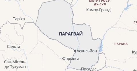 Парагвай - мапа