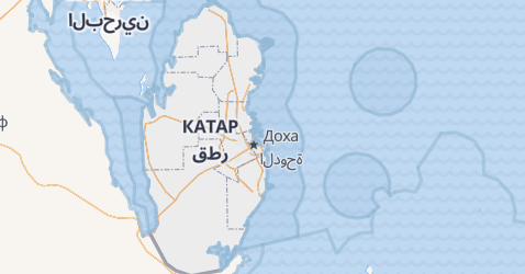 Катар - мапа