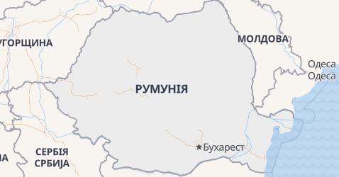Румунія - мапа