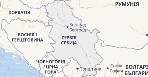 Сербія - мапа