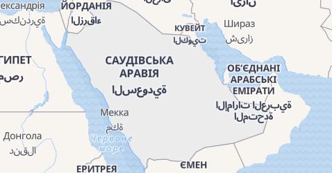 Саудовська Аравія - мапа