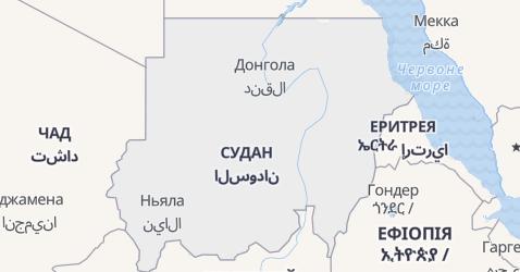 Судан - мапа