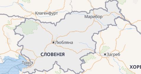 Словенія - мапа