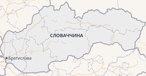 Словакія - мапа
