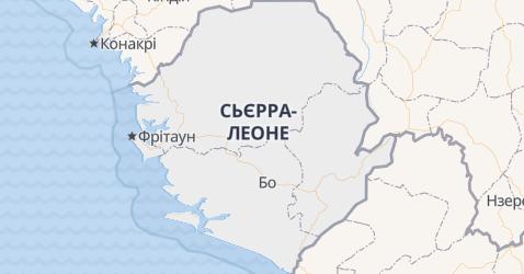С'єрра-Леоне - мапа